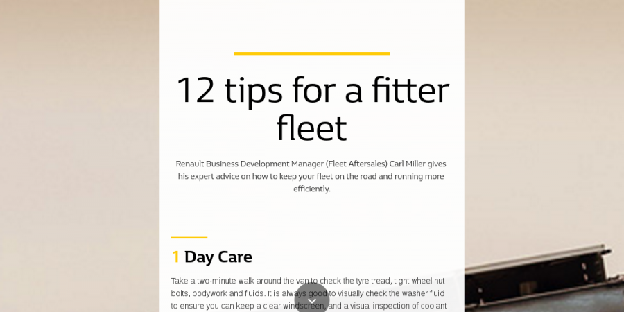 12 tips for a fitter fleet - Renault Business Autumn 2018