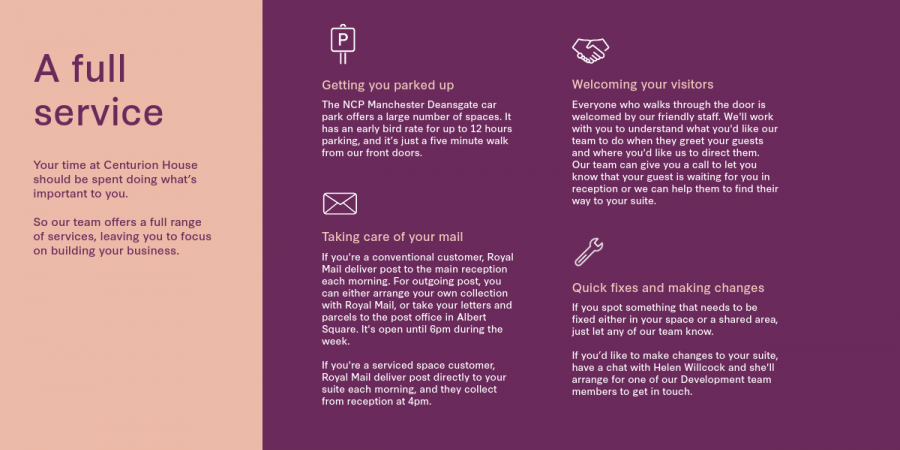 A full service - Centurion House welcome pack new