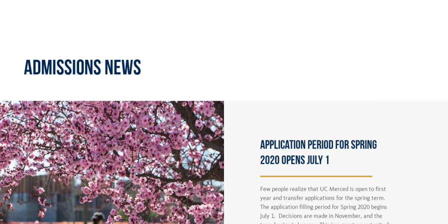 Spring Begins 2020.Admissions News Educator Newsletter Spring 2019