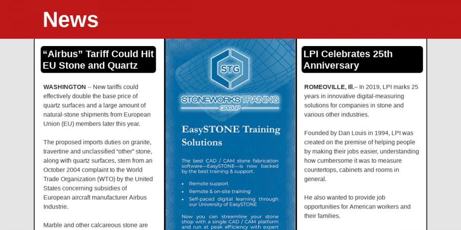 News Highlights - 3/EasyStone Training - Summer 2019