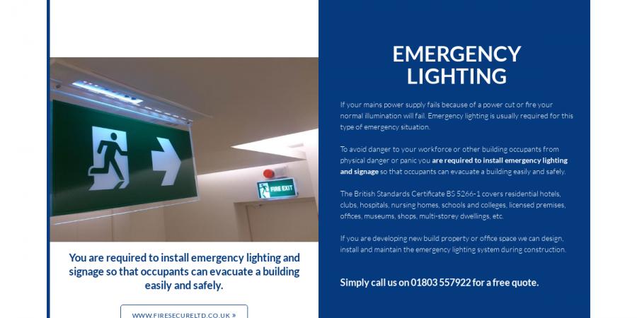 Emergency Lighting - Fire Secure Brochure