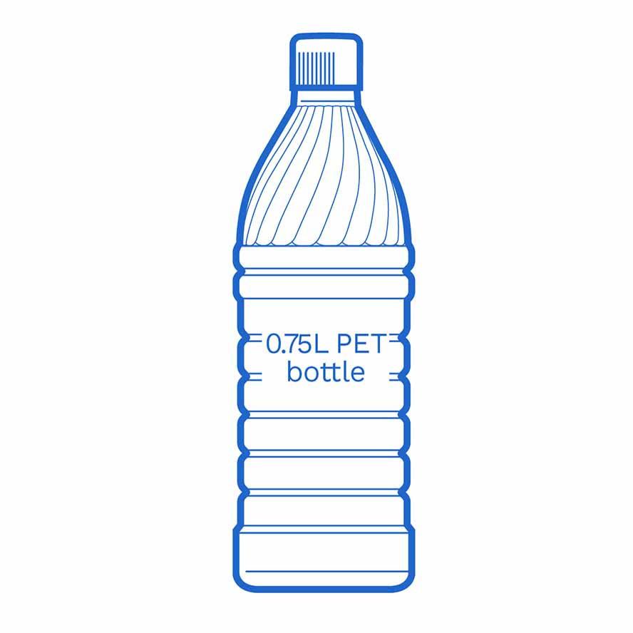 0 75 L PET bottle FSCE Dalby