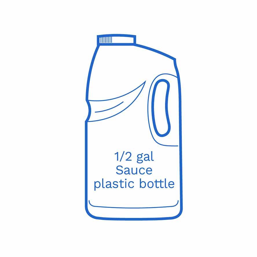 1 2 gal sauce plastic bottle FSUS Hillside