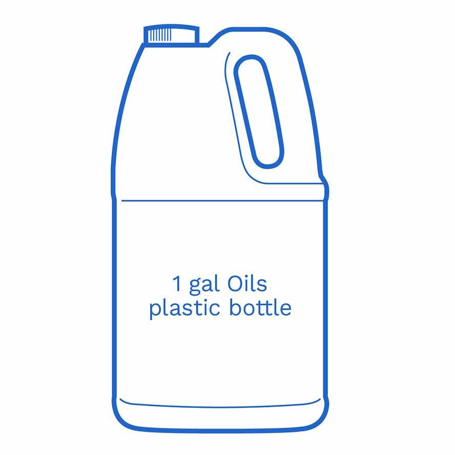 1 gal Oils plastic bottle FSUS Hillside