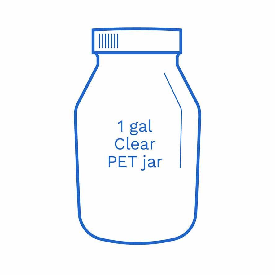 1 gal clear PET jar FSUS Hillside