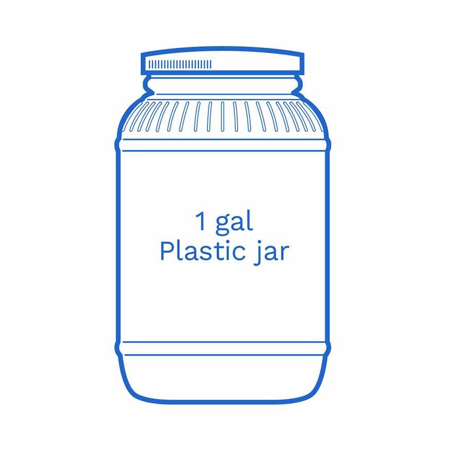 1 gal plastic jar FSUS Hillside