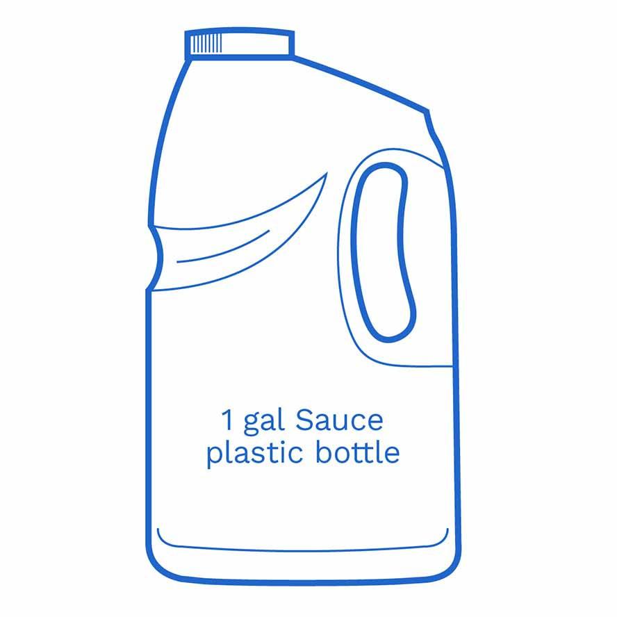 1 gal sauce plastic bottle FSUS Hillside