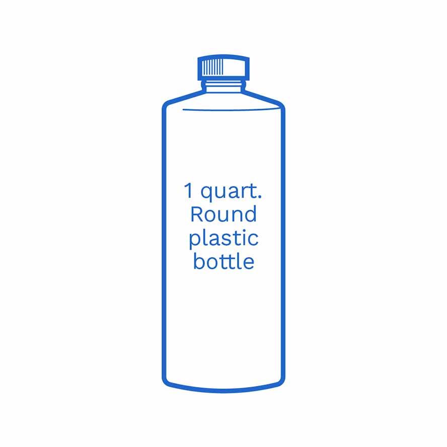 1 quart Round plastic bottle FSUS Hillside