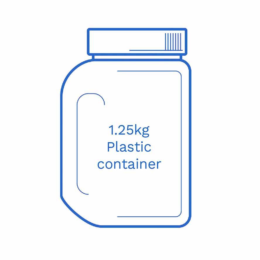1 25kg Plastic container FSUK Hastings