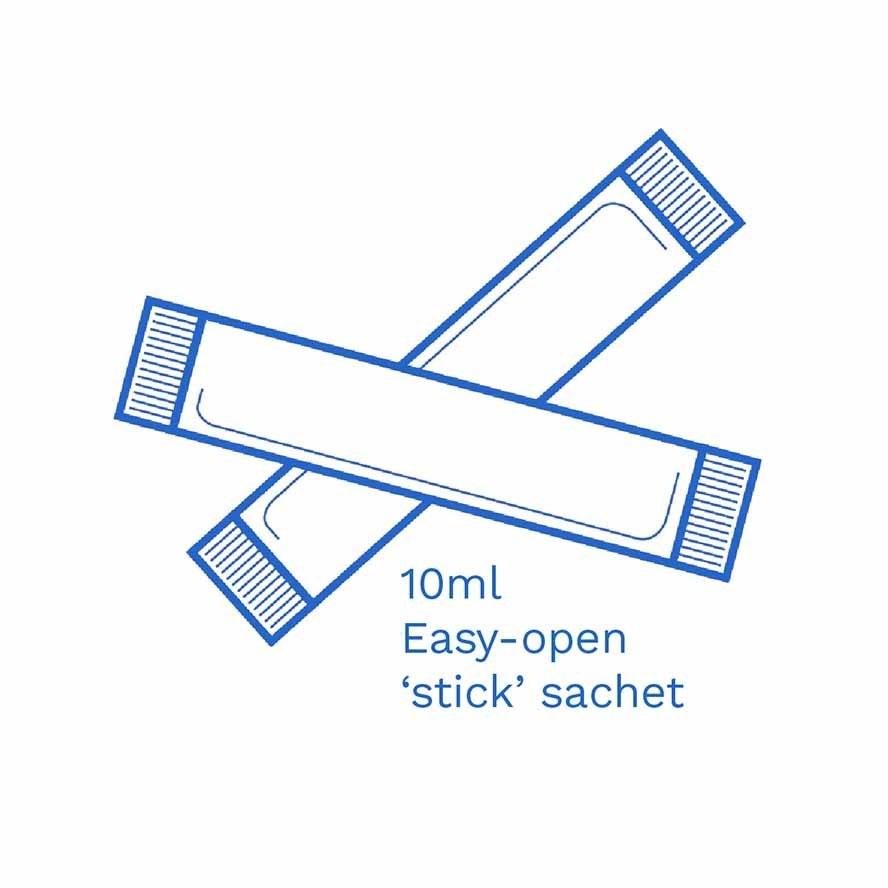 10ml Easy open stick sachet FSUK Hastings
