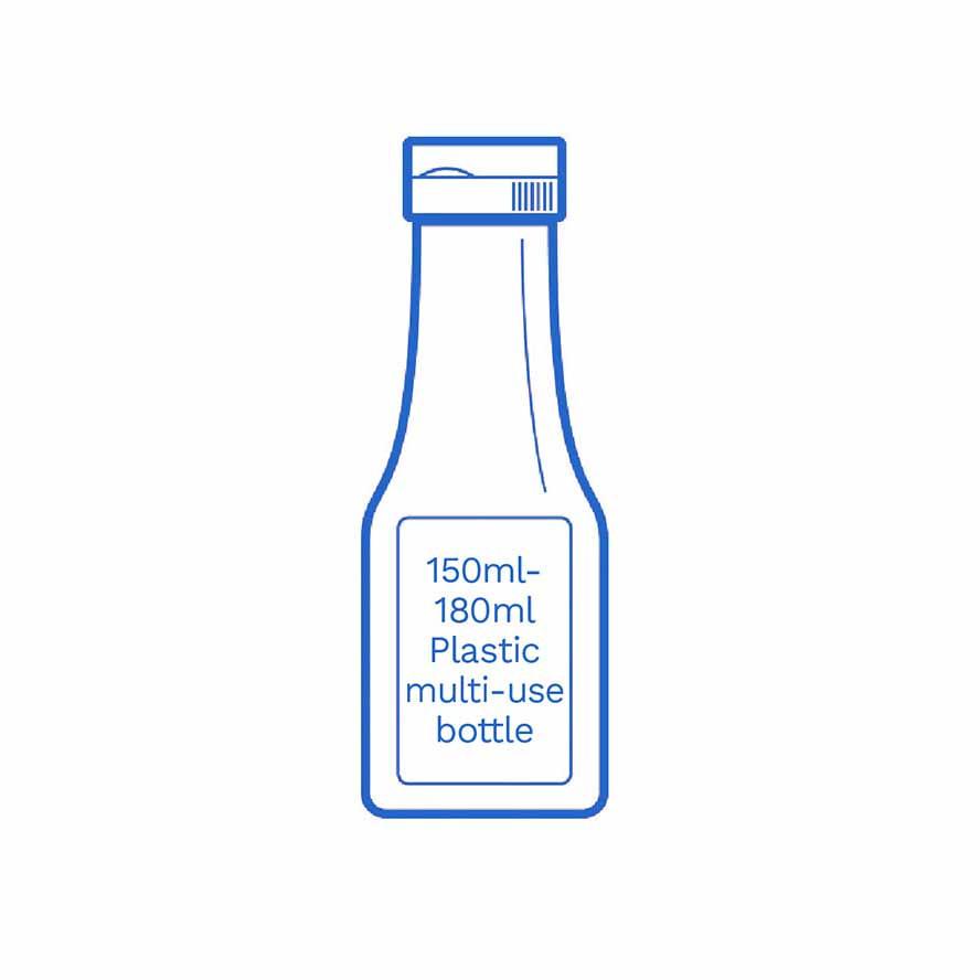 150 180ml Plastic bottle FSUK Hastings