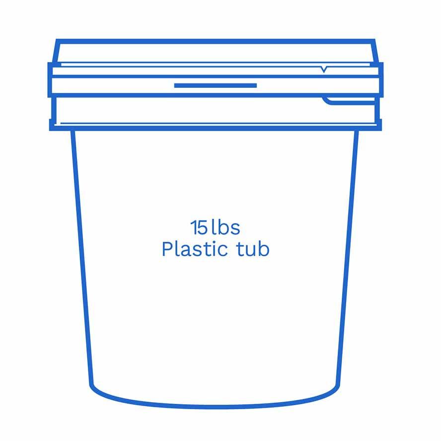 15lbs plastic tub FSUS Hillside