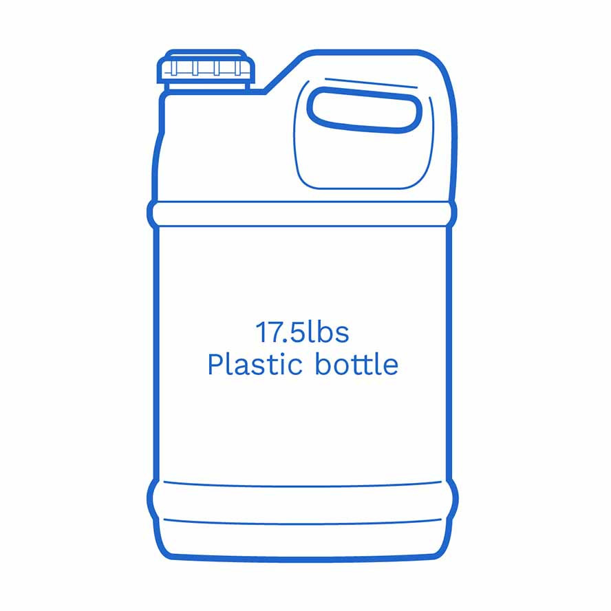 17 5lbs plastic bottle FSUS Hillside