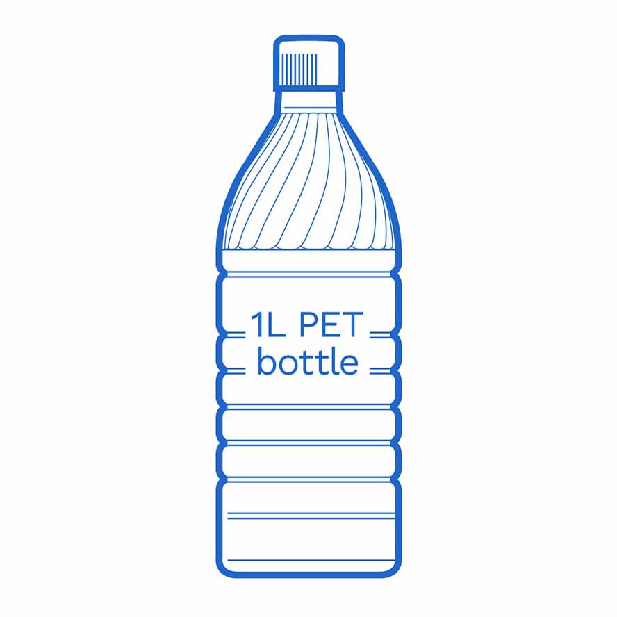 1 L PET bottle FSCE Dalby