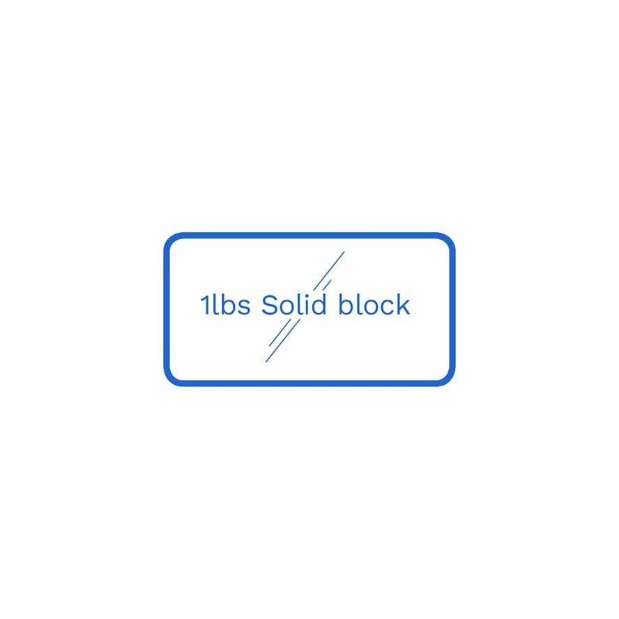 1lbs solid block FSUS Hillside