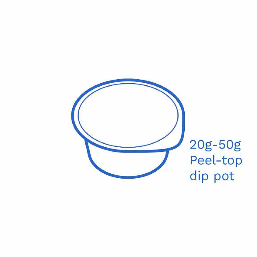 20 50g Peel top dip pot FSUK Hastings