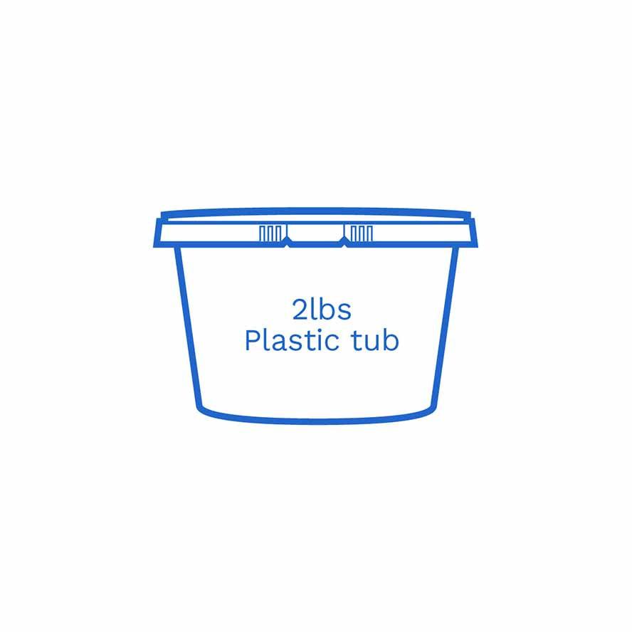 2lbs plastic tub FSUS Hillside