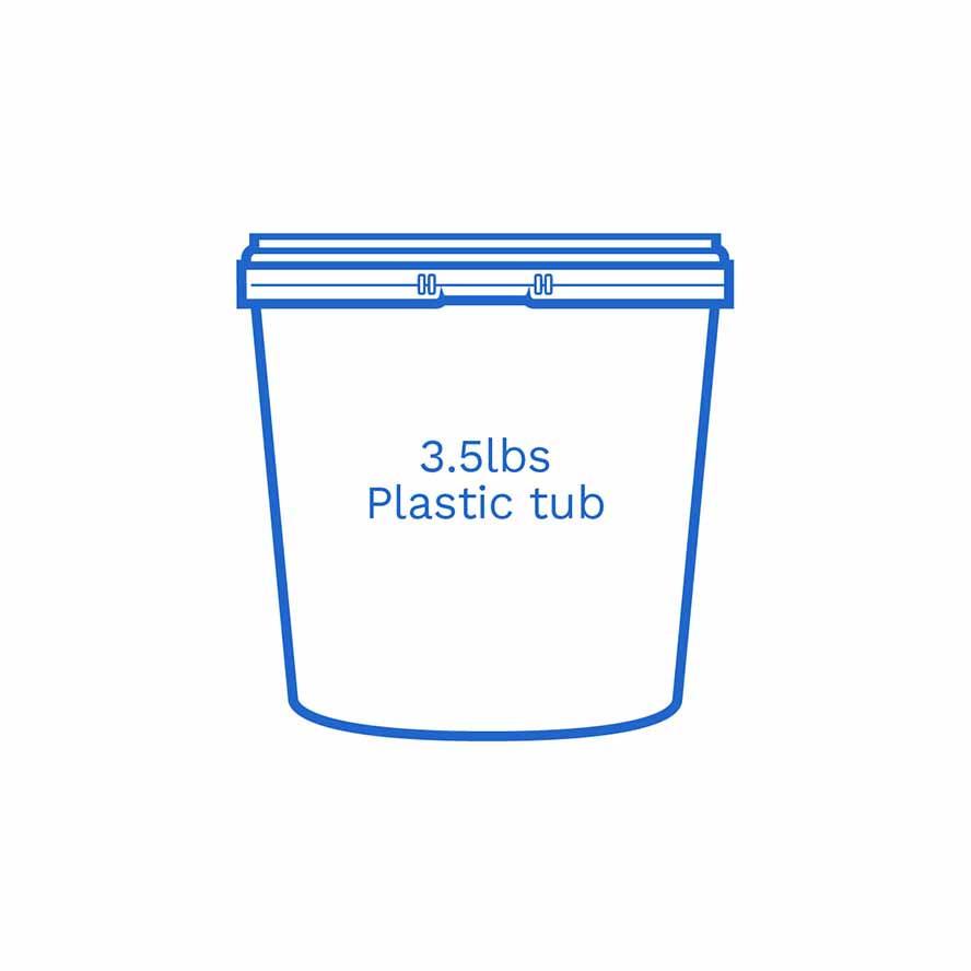 3 5lbs plastic tub FSUS Hillside