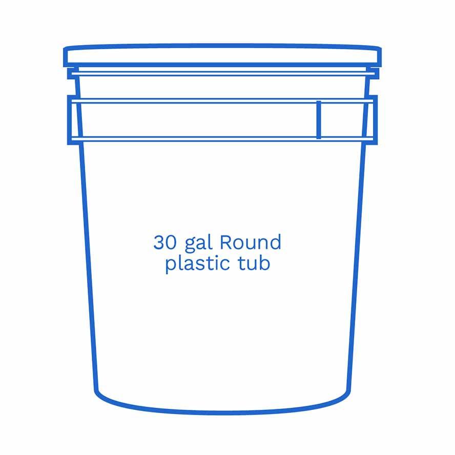 30 gal round plastic tub FSUS Hillside
