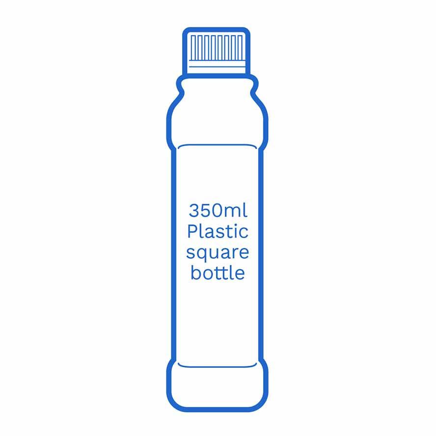 350ml Plastic Square Bottle FSCE Dalby