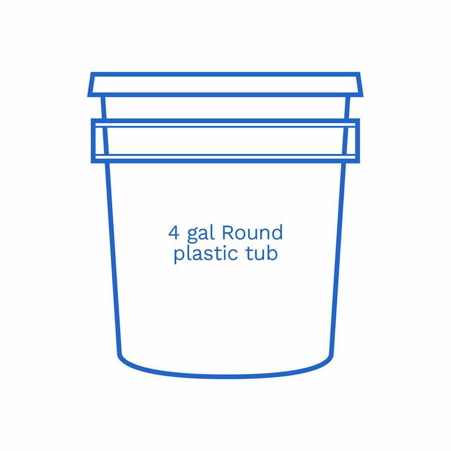 4 gal round plastic tub FSUS Hillside
