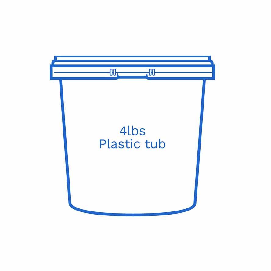 4lbs plastic tub FSUS Hillside