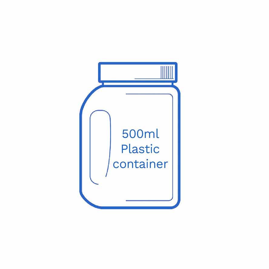 500ml Plastic container FSUK Hastings