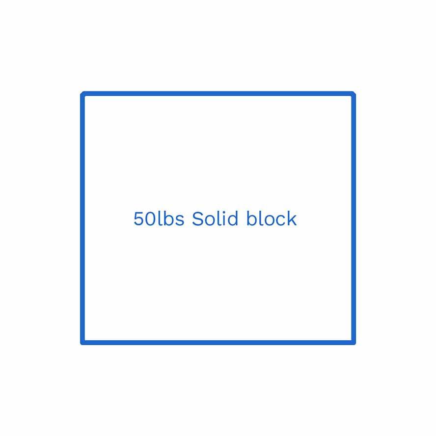 50lbs solid block FSUS Hillside