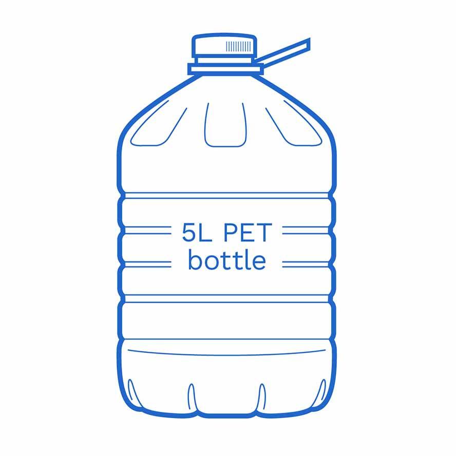 5 L PET bottle FSCE Dalby