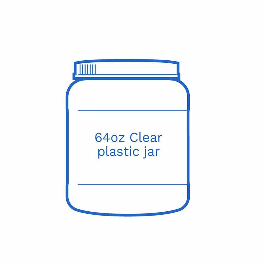 64oz clear plastic jar FSUS Hillside