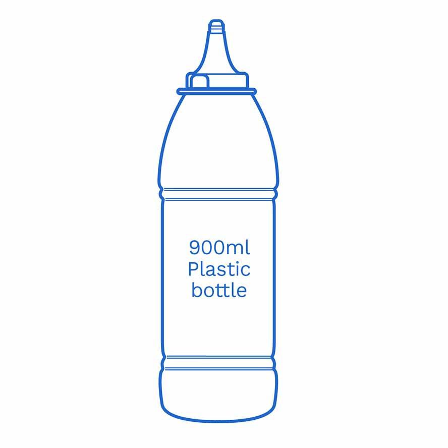 900ml plastic bottle FSCE Dalby