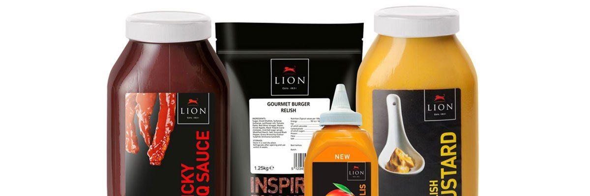 Lion sauces white lids