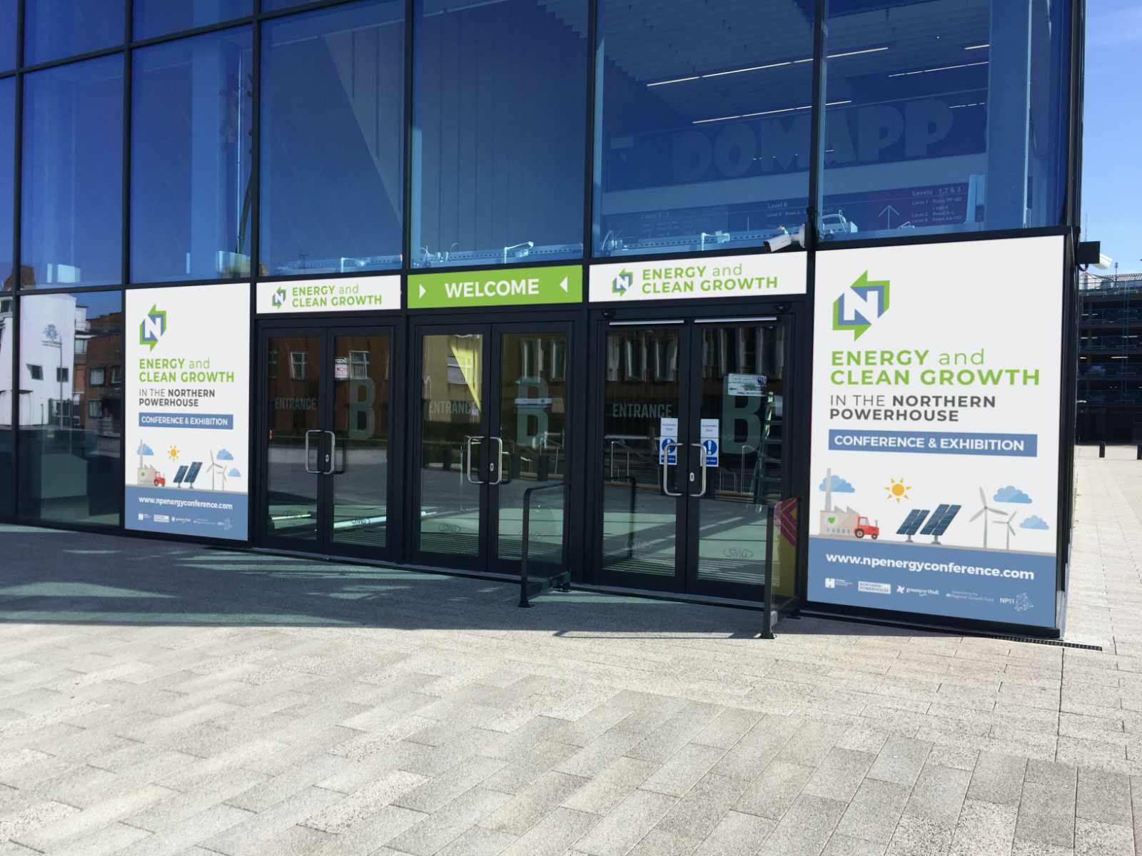 Northern Powerhouse Conference Entrance door