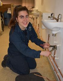 Lucy Hall, Plumbing Diploma Level 2
