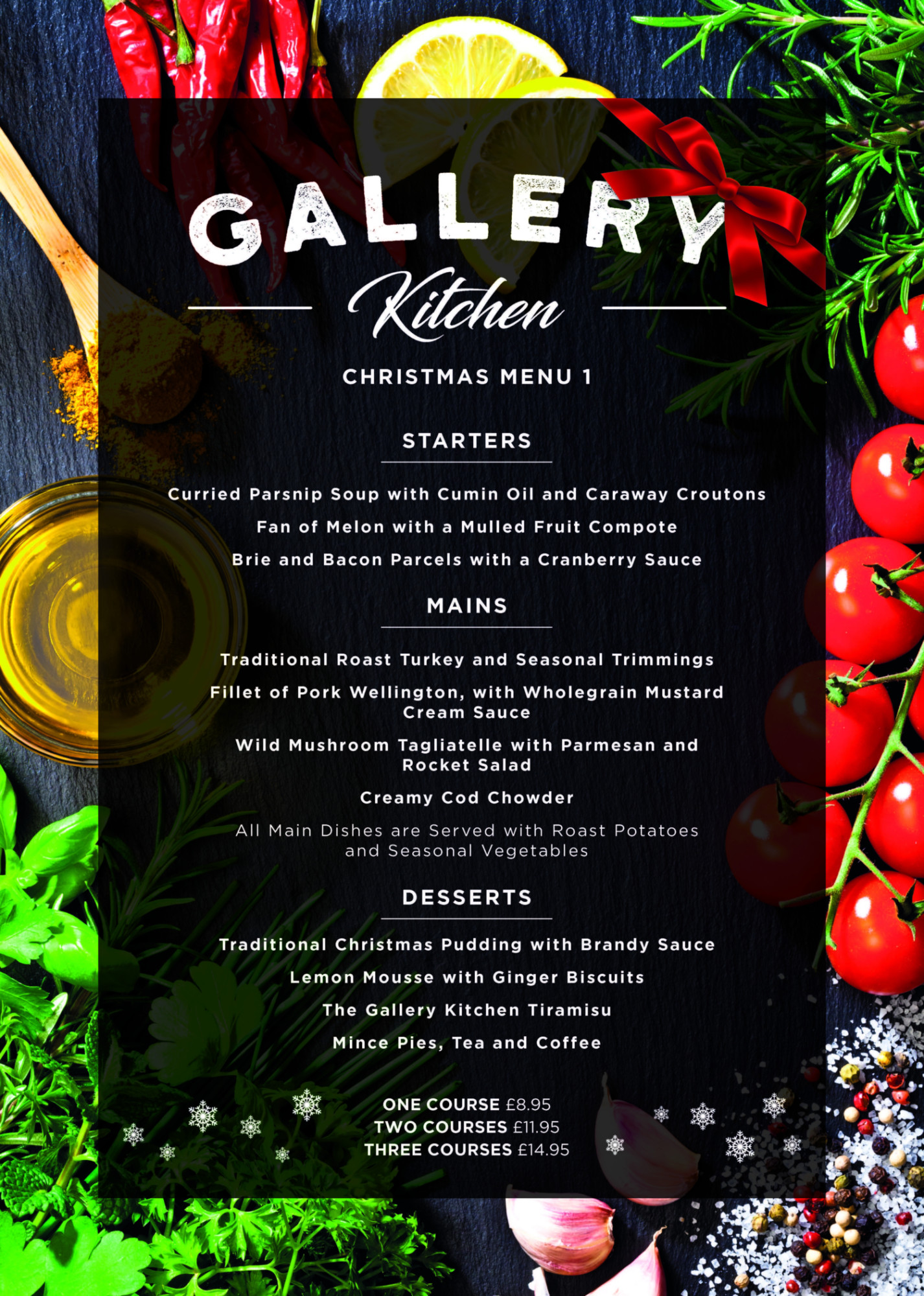 Gallery Restaurant Christmas Menu 1