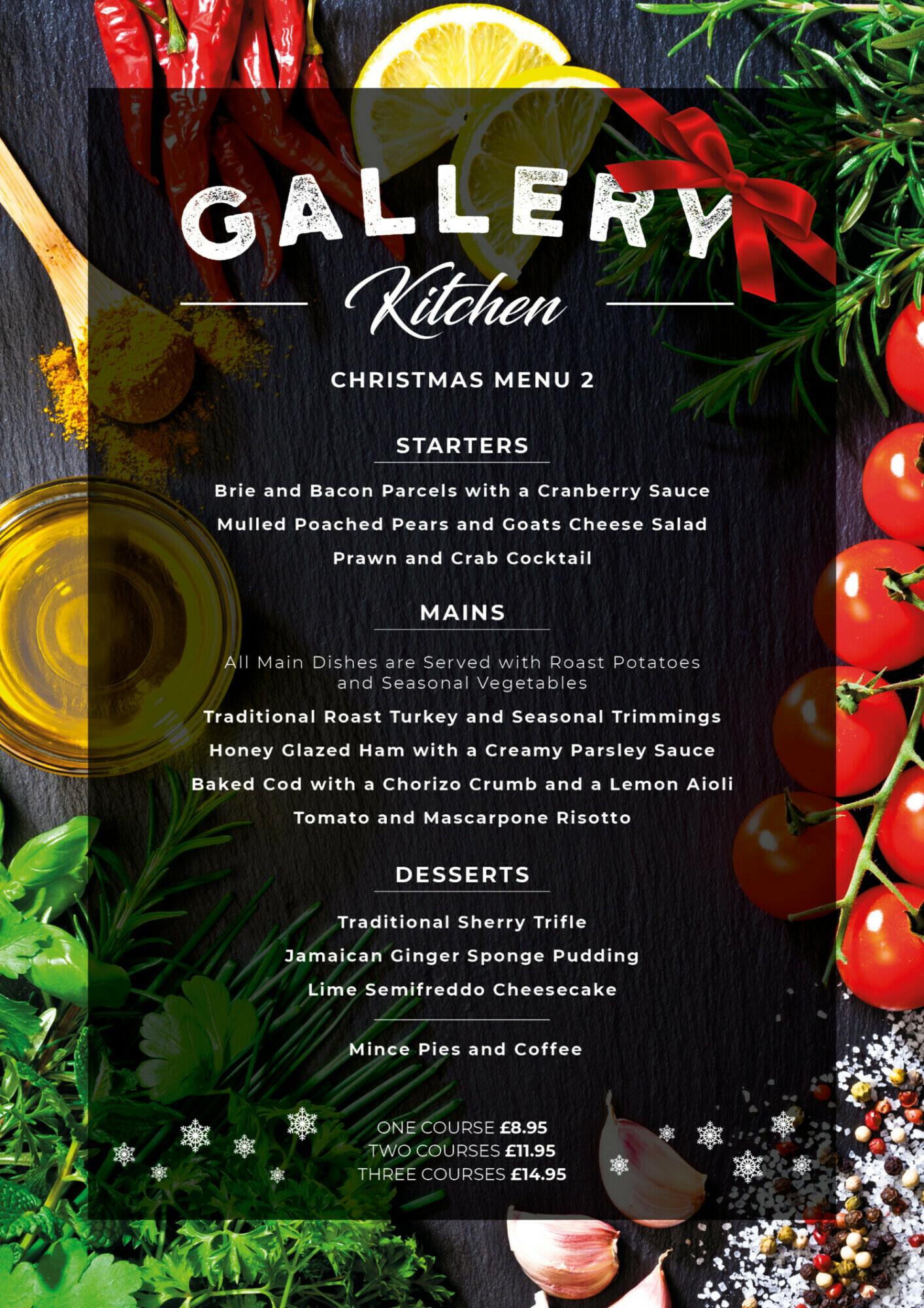 Gallery Restaurant Christmas Menu 2