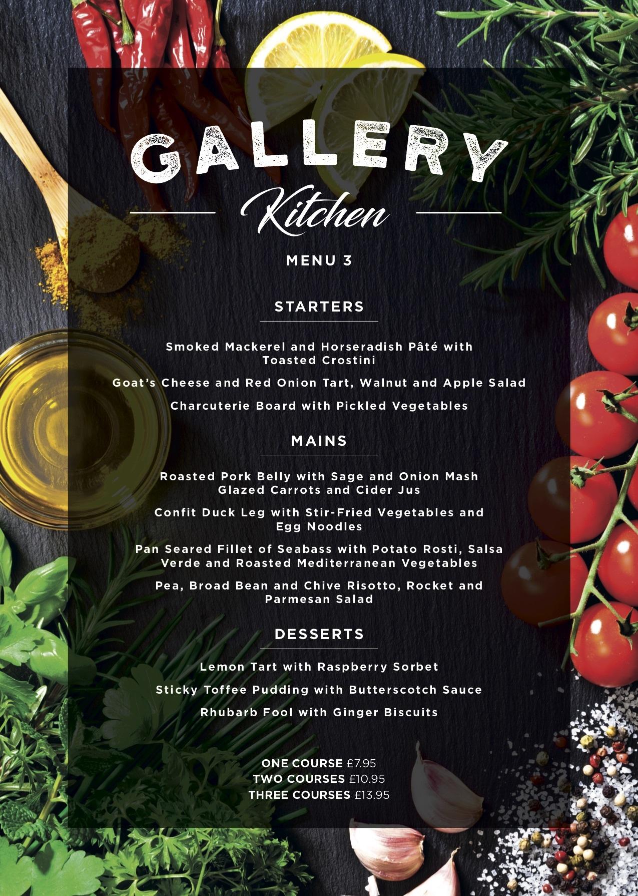 Gallery Restaurant Menu 3