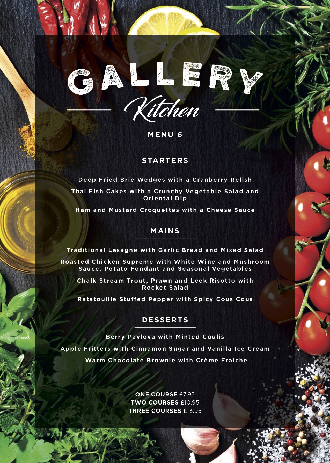 Gallery Restaurant Menu 6