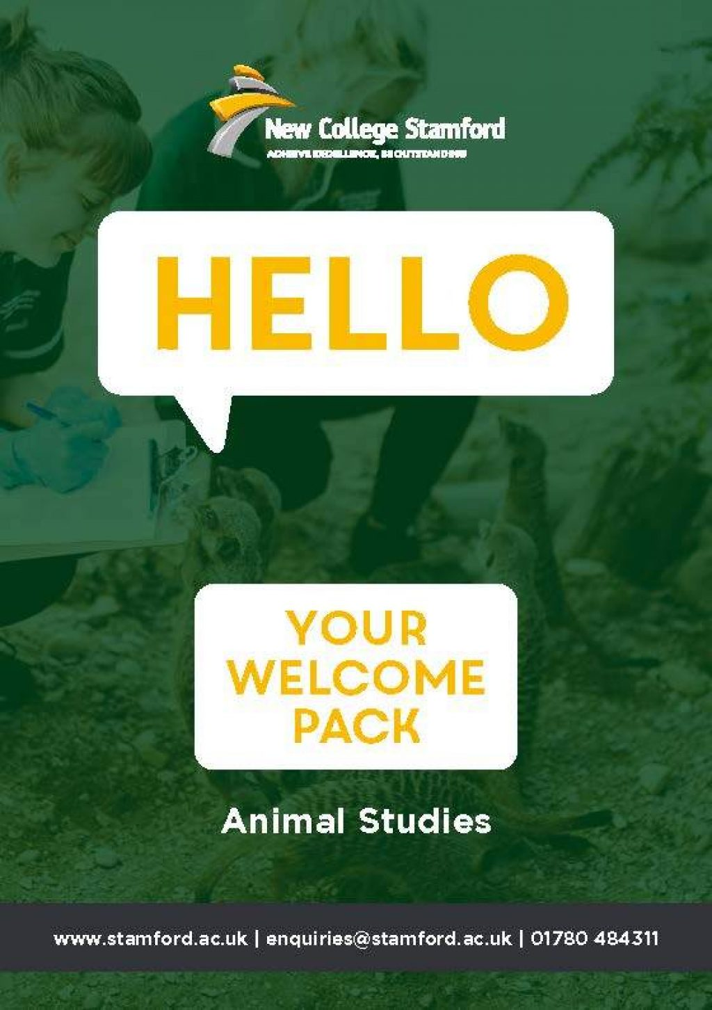 Welcome Event 2020 Animal Studies Front Cover Page 1