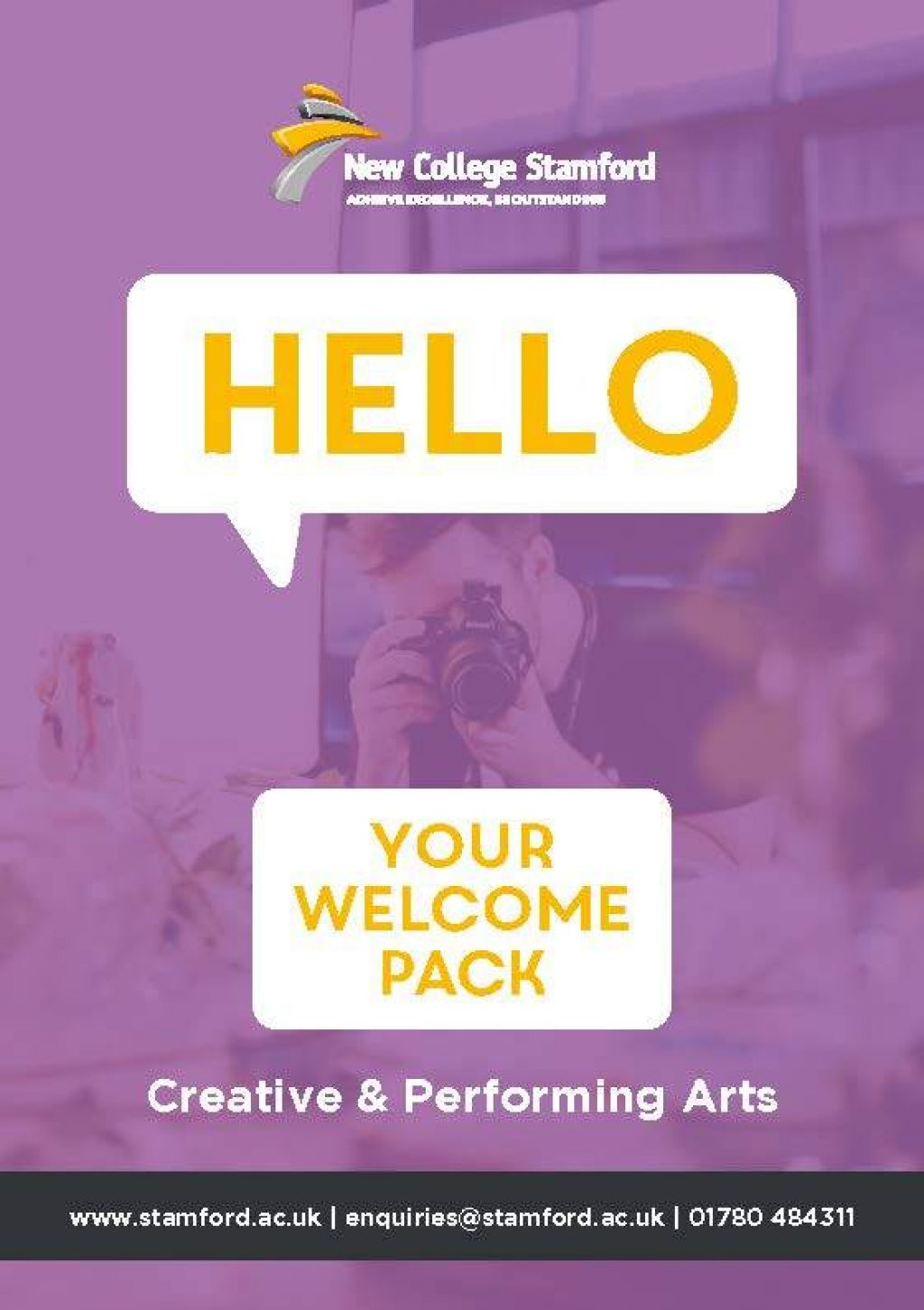 Welcome Event 2020 Creative Arts Front Cover Page 1
