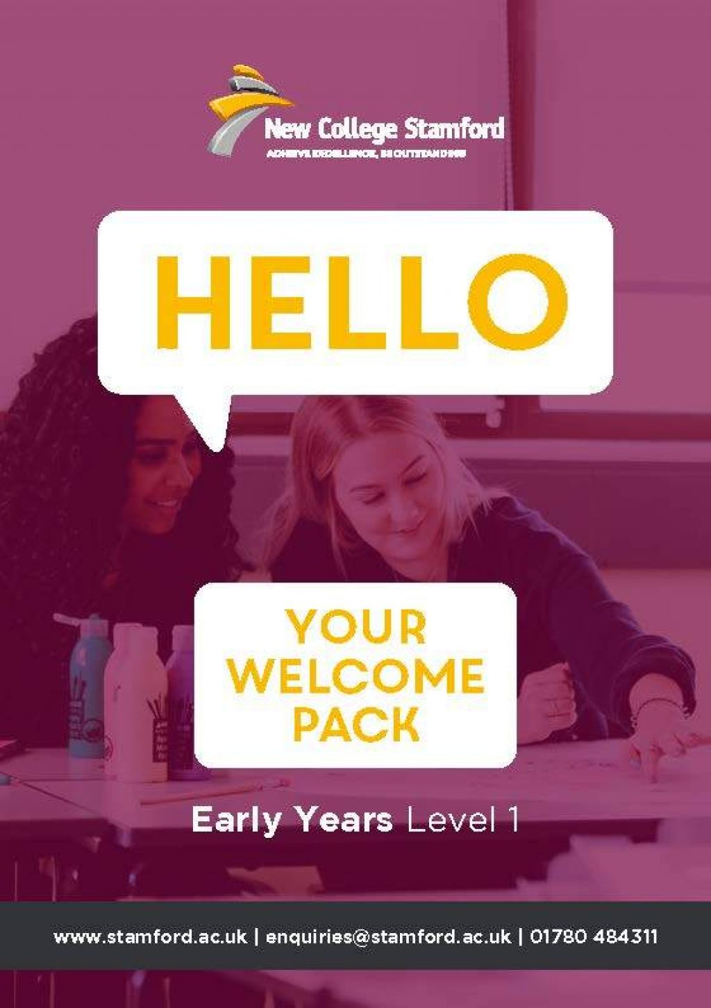 Welcome Event 2020 Early Years Level 1 Front Cover Page 1