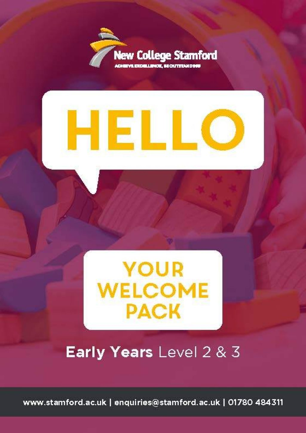Welcome Event 2020 Early Years Level 2 3 Front Cover Page 1