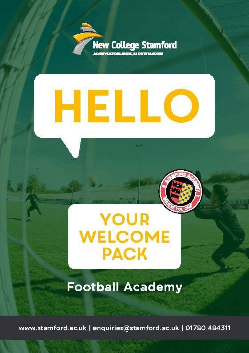 Welcome Event 2020 Football Academy Front Cover Page 1
