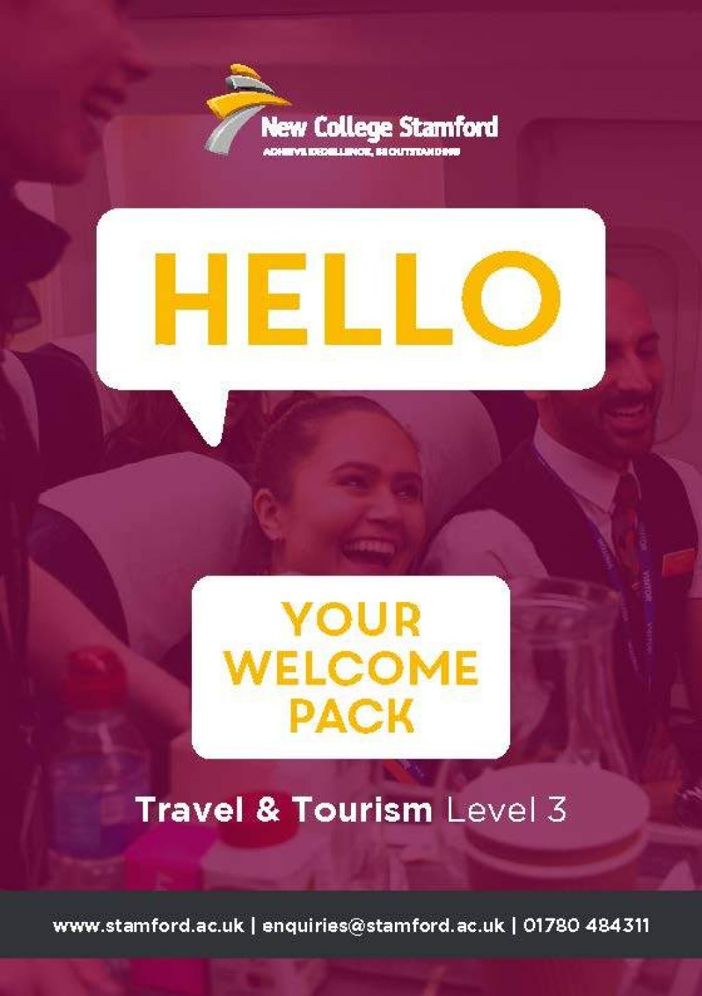Welcome Event 2020 Travel Tourism Level 3 Front Cover Page 1