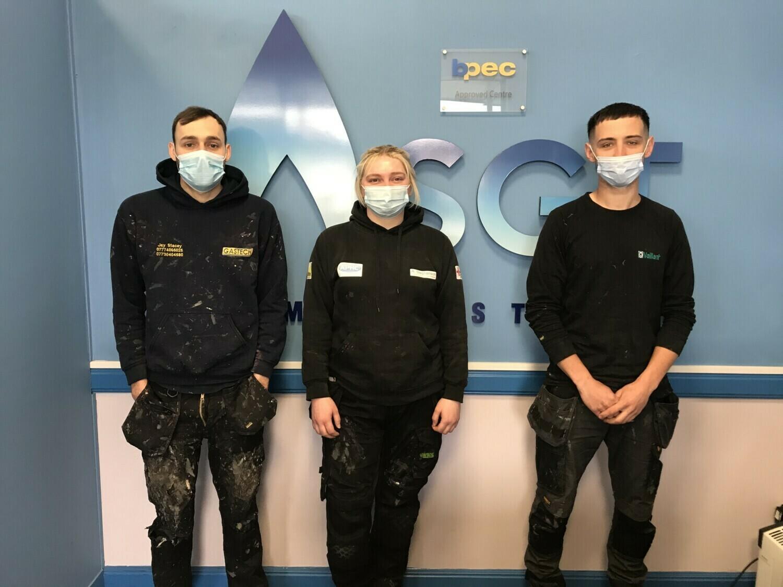 Stamford Gas Training students