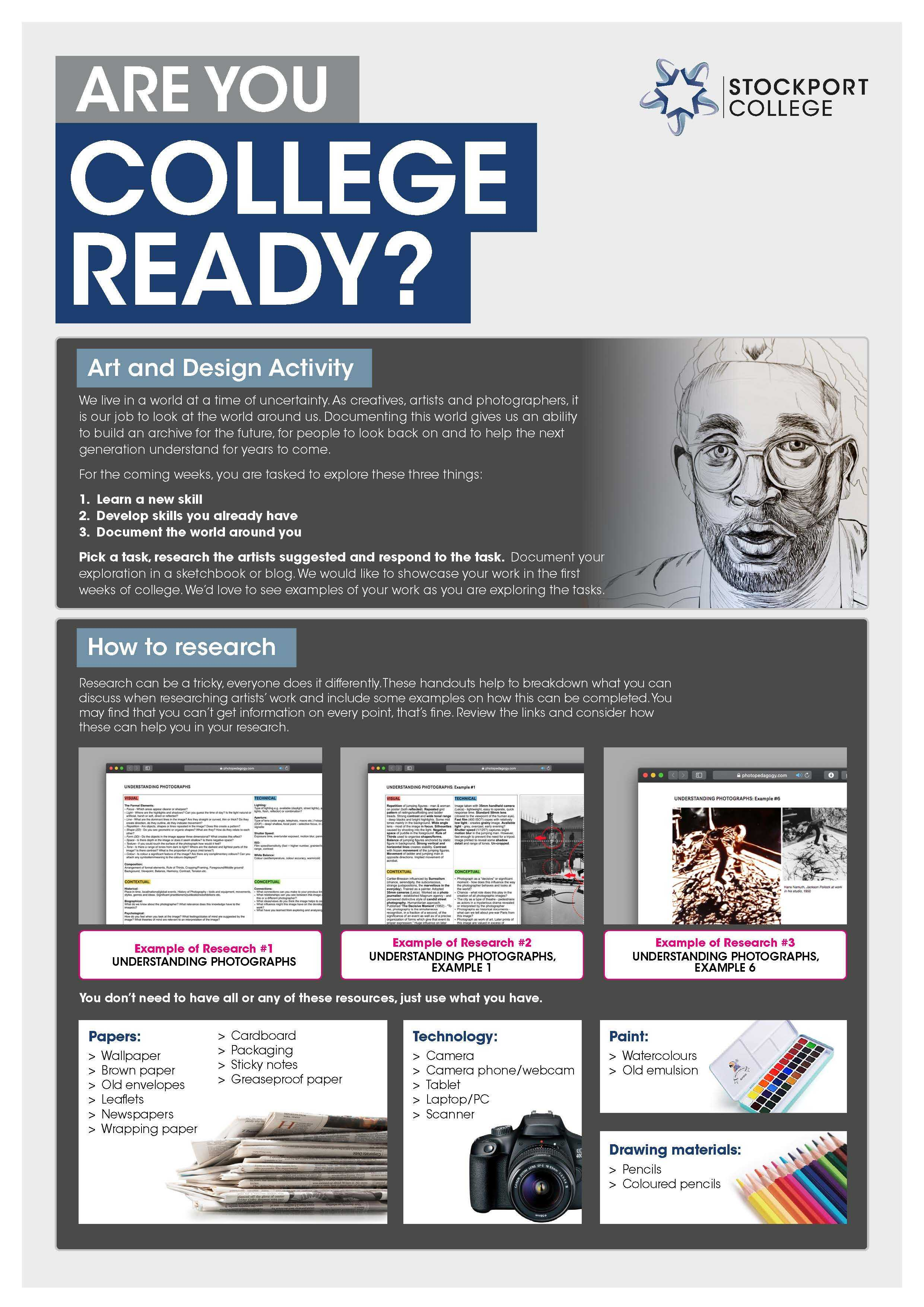 Are You College Ready Transition Leaflet Art Design STOCKPORT DIGITAL Jul20 Page 1