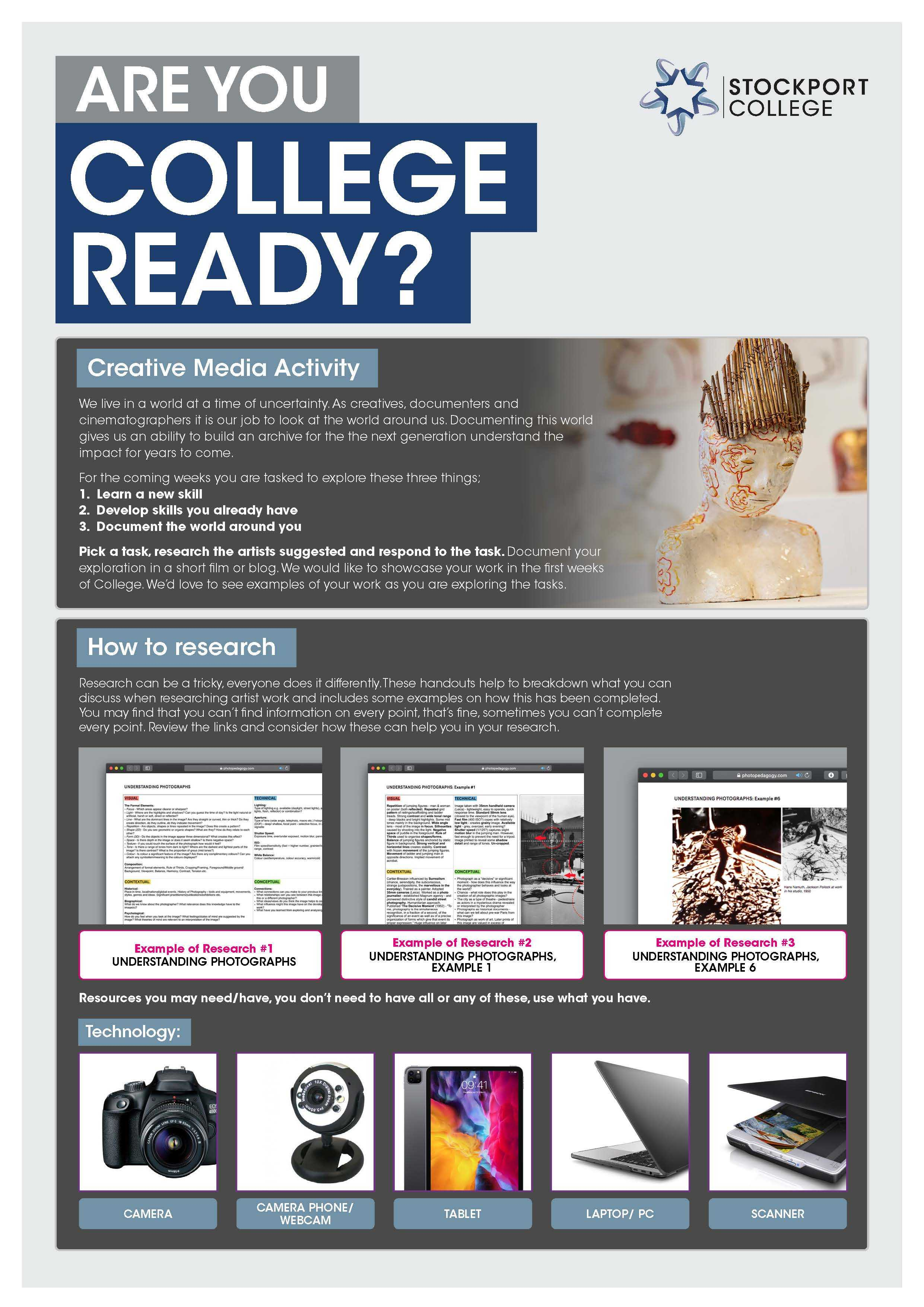 Are You College Ready Transition Leaflet Creative Media STOCKPORT Jun20 Page 1