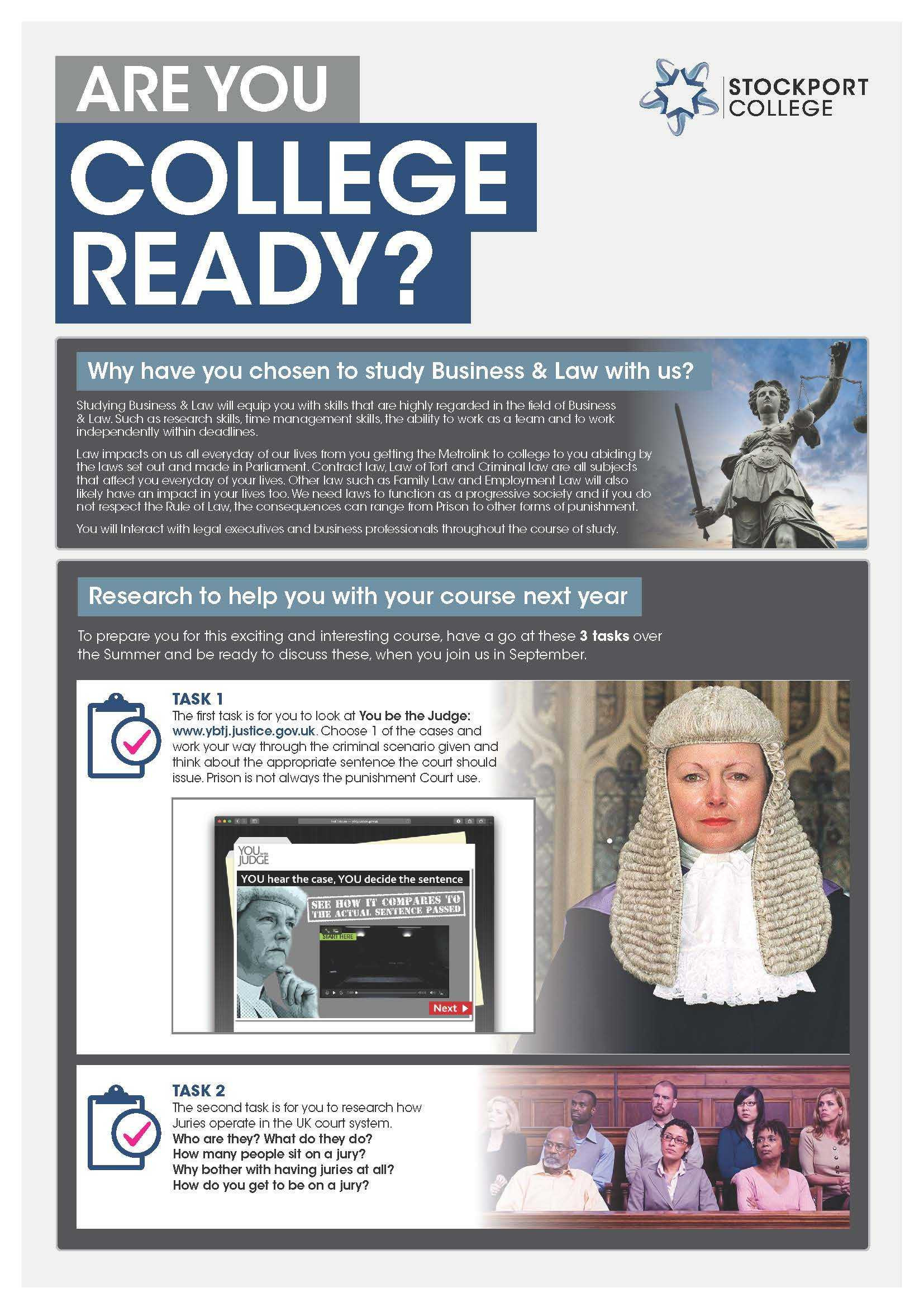 Are You College Ready Transition Leaflet Law STOCKPORT May20 v3 Page 1