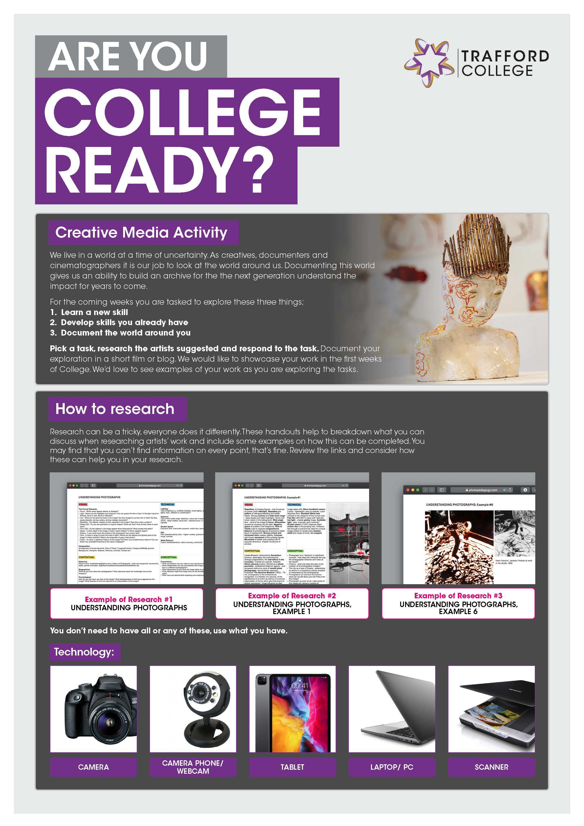 Are You College Ready Transition Leaflet Creative Media TRAFFORD Jun20 Page 1