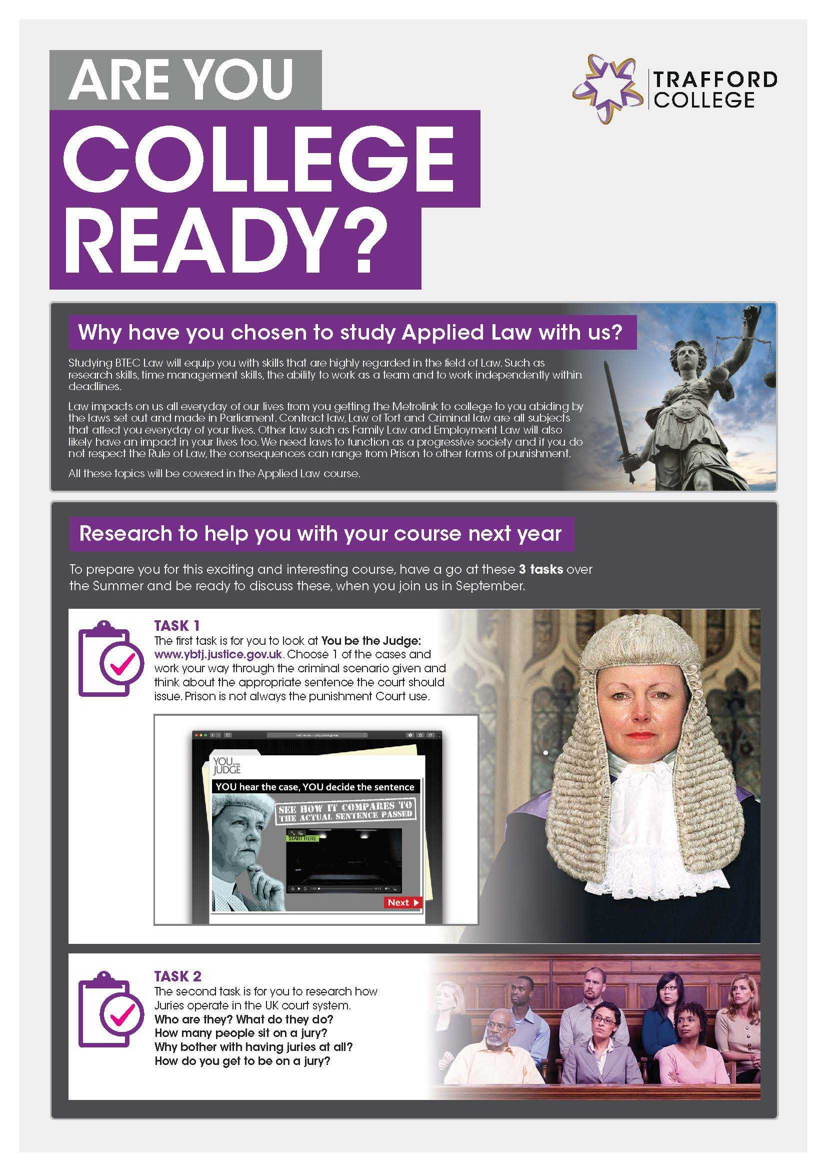 Are You College Ready Transition Leaflet Law TRAFFORD May20 Page 1